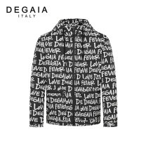 Jacket DEGAIA Fashion City black 46 48 50 52 54 56 58 routine standard Other leisure spring DUCAJ19023 Polyester 100% Long sleeves Wear out Hood youth routine Spring 2021