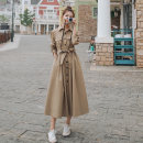 Dress Spring 2021 Deep Khaki S,M,L,XL longuette singleton  Long sleeves commute Polo collar High waist Solid color Single breasted A-line skirt routine 18-24 years old Type A Other / other Korean version Button 31% (inclusive) - 50% (inclusive) Cellulose acetate