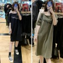 Dress Summer of 2019 Black, support seven days return, green, support seven days return XS,S,M 18-24 years old More than 95% cotton