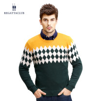 T-shirt / sweater Regatta Club Fashion City routine Socket Crew neck Long sleeves winter Straight cylinder 2015 Polyacrylonitrile fiber (acrylic fiber) 51.1% wool 48.9% Business Casual youth routine diamond Winter 2015 wool blend  Same model in shopping mall (sold online and offline)