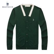 T-shirt / sweater Regatta Club Fashion City M519105-54 army green m519105-67 dark blue 165/95/S 170/100/M 175/105/L 180/110/XL 185/115/XXL 190/120/XXXL 195/125/XXXXL Thin money Cardigan V-neck Long sleeves M519105 autumn Straight cylinder 2015 Cotton 69% polyamide 31% leisure time Business Casual