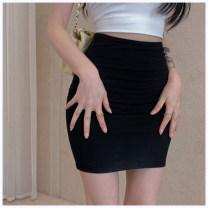 skirt Summer 2021 Average size Gray, black Short skirt commute High waist skirt Solid color Type X More than 95% other other Korean version
