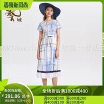 Dress Summer of 2019 Ice blue B54, cool green g80 S,M,L,XL,2XL 25-29 years old Women's wear in art field J2L201 More than 95% cotton