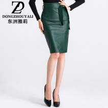 skirt Spring of 2018 2XL 3XL S M L XL 4XL Blue black dark green Middle-skirt commute High waist Pencil skirt Solid color Type H 25-29 years old 51% (inclusive) - 70% (inclusive) other Dongzhou Yali polyester fiber Pocket strap asymmetry Ol style Polyester 60% other 40% Pure e-commerce (online only)
