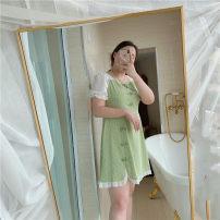 Women's large Summer 2020 Light green, pink Dress