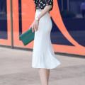 skirt Summer 2021 S M L XL 2XL 3XL 4XL Single white skirt single black skirt Mid length dress Versatile High waist Suit skirt Solid color Type H 30-34 years old 1075_ 1070-68 More than 95% Yimuzi polyester fiber fold Polyester 96.3% polyurethane elastic fiber (spandex) 3.7%