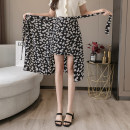 skirt Summer 2020 S,M,L,XL White, little daisy longuette commute High waist Splicing style Broken flowers Type A 25-29 years old LK202—0462 Chiffon Other / other Bows, ties, bandages, prints Korean version