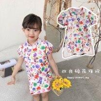cheongsam 90,100,110,120,130,140 Minnie printed cheongsam Other 100% KITTY`S WORLD There are models in the real shooting summer Broken flowers other Chinese Mainland