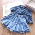 skirt K0201 Other / other Other 100% female 2 years old, 3 years old, 4 years old, 5 years old, 6 years old, 7 years old spring and autumn skirt Cake skirt Solid color Europe and America Denim Class B Light, dark