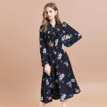 Dress Autumn of 2019 flower S M L Mid length dress singleton  Long sleeves commute other Decor Socket A-line skirt other Others 25-29 years old Type A Artka Retro LA10295Q More than 95% other Other 100%