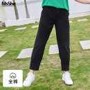 Women's large Autumn of 2019 Black spot white spot retro purple spot T1 T2 T3 T4 T5 T6 Jeans singleton  commute easy moderate Solid color Simplicity cotton MS1909178 MS she / mu Shan Shiyi 25-29 years old Button 96% and above Cotton 100% Pure e-commerce (online only) Ninth pants