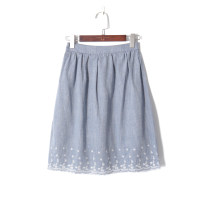 skirt Autumn of 2019 S,M,L Gray blue Middle-skirt Versatile High waist A-line skirt 18-24 years old 51% (inclusive) - 70% (inclusive) other Other / other other