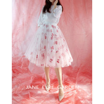 skirt Spring 2020 XS,S,M,L,XL Color of the main picture (skirt length 65cm), please take this link to customize other sizes Mid length dress Sweet Natural waist A-line skirt Decor Type A 18-24 years old other other Embroidery, pleating, stitching