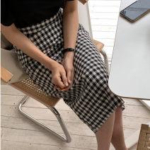 skirt Spring 2021 S,M,L,XL Mid length dress commute High waist skirt lattice Type H 71% (inclusive) - 80% (inclusive) other Other / other cotton zipper Korean version