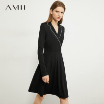 Dress Autumn 2020 150/76A/XS 155/80A/S 160/84A/M 165/88A/L 170/92A/XL Middle-skirt singleton  Long sleeves commute tailored collar middle-waisted Socket routine 25-29 years old Type A Amii Simplicity 31% (inclusive) - 50% (inclusive) other nylon Same model in shopping mall (sold online and offline)