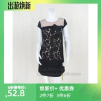 Dress Autumn of 2018 black Size 3 160 / 84A Short skirt Crew neck Lace, gauze L5SC14013BH30098 More than 95% other