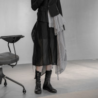 skirt Winter 2020 Average size black longuette commute High waist A-line skirt Solid color Type H 25-29 years old Q-967 More than 95% other Simple BLACK wool Korean version 101g / m ^ 2 (including) - 120g / m ^ 2 (including)