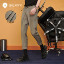 Casual pants gxg.jeans Youth fashion Khaki color khaki color autumn and winter pants 165/S 170/M 175/L 180/XL 185/XXL Ninth pants Other leisure easy JB102634C summer youth 2020 middle-waisted Polyester 69.5% viscose (viscose) 30.5% Solid color polyester fiber Summer 2020