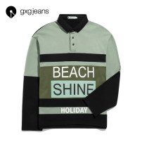 Sweater Youth fashion gxg.jeans Green (this is oversize) 170/M 175/L 180/XL other Socket routine Lapel spring Extra wide type leisure time youth tide routine JB131145A Cotton 100% cotton Spring 2020 More than 95% Same model in shopping mall (sold online and offline) Other styles