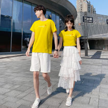 T-shirt Men's T-shirt, women's T-shirt, women's skirt, men's suit, women's suit S,M,L,XL,2XL,3XL Summer 2021 Short sleeve Crew neck Straight cylinder Regular routine Sweet cotton 51% (inclusive) - 70% (inclusive) youth printing solar system