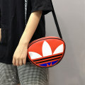 Bag The single shoulder bag PU Small round bun Other / other Red, white, black, blue brand new Japan and South Korea in leisure time soft zipper no Solid color Single root One shoulder cross nothing youth Box shape Color contrast Telescopic handle polyester fiber mobile phone bag Artificial leather