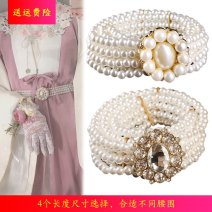 Belt / belt / chain other Crystal button, a, B, C, D, e, l, h, I, J, K, m, O, P, q female Waist chain Sweet Single loop Youth, youth, middle age a hook Diamond inlay Glossy surface 3.2cm alloy Bare, inlaid, hollow, diamond, beaded, elastic, flower N6N H198 65cm,70cm,75cm,80cm,85cm,90cm,95cm