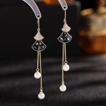 Ear Studs Alloy / silver / gold 51-100 yuan The crystal of midsummer brand new Original design female goods in stock Fresh out of the oven Alloy inlaid artificial gem / semi gem other C0370 Spring 2021 no White tassel purple tassel green tassel