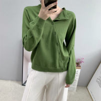 Wool knitwear Autumn 2020 Average size Long sleeves singleton  Cardigan acrylic fibres More than 95% Regular routine commute Straight cylinder Low crew neck routine Solid color Single breasted Korean version 25-29 years old Thread, button