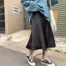 skirt Spring of 2019 L,XL,2XL,3XL,4XL Mid length dress commute High waist Fluffy skirt Solid color Type A 31% (inclusive) - 50% (inclusive) other other Korean version