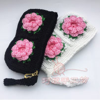 wallet Long Wallet polyester fiber One hundred Pink flowers with black background and pink flowers with white background brand new Japan and South Korea female zipper Plants and flowers other middle age flower