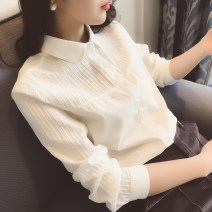 shirt White round collar long sleeve, white pointed collar long sleeve, round collar short sleeve, pointed collar short sleeve S,M,L,XL,XXL Autumn of 2018 cotton 96% and above Long sleeves Regular routine