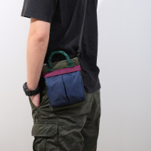 Men's bag The single shoulder bag Nylon  Innovation (backpack) brand new leisure time Street trend zipper soft Small mobile phone bag Solid color Yes Single root youth Horizontal square polyester fiber Color contrast ZS1816 Soft handle set-in pocket 8 inches One shoulder cross carry