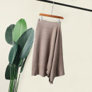 skirt Spring 2020 Average size Coffee, khaki, picture Mid length dress Retro Natural waist Irregular Solid color Type A 18-24 years old 30% and below Yaneryi cupboard other
