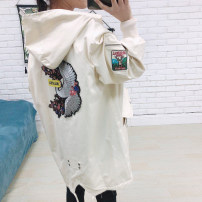 short coat Spring 2020 L,XL White, off white Long sleeves Medium length routine singleton  easy commute Hood zipper 25-29 years old Yaneryi cupboard 31% (inclusive) - 50% (inclusive)