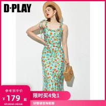 Dress Summer 2021 Suspender skirt - suspender skirt in stock - take a picture of suspender skirt on April 14 - take a picture of short sleeve skirt on April 23 S M L XL Mid length dress singleton  Sleeveless street Crew neck High waist Broken flowers other other other camisole 25-29 years old Type H