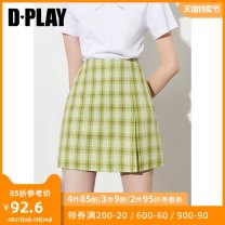 skirt Summer 2020 S M L XL Green checkerboard purple checkerboard light pink green checkerboard Short skirt commute High waist A-line skirt lattice Type A 25-29 years old DB0207491 51% (inclusive) - 70% (inclusive) other DPLAY polyester fiber zipper Simplicity Pure e-commerce (online only)