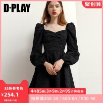 Dress Spring 2021 Classic black - spot classic black - shot around April 20 S M L XL Middle-skirt singleton  Long sleeves street other High waist Solid color other Big swing other Others 25-29 years old Type X DPLAY Pleating DB1105052 More than 95% other other Other 100% Pure e-commerce (online only)