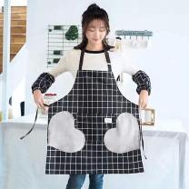 Apron suit Cooking / baking / barbecue Average size pure cotton Kitchen Apron glove handle Simplicity Others antifouling