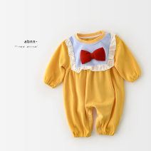 Jumpsuit / climbing suit / Khaki A Bao girl Class A female yellow 66 cm,73 cm,80 cm,90 cm cotton spring and autumn Long sleeves Long climb princess Freshmen, 3 months, 6 months, 12 months, 18 months, 2 years old, 3 years old, 9 months old Chinese Mainland