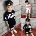 suit Kiss a child Black, red, white, black + headband, red + headband, white + headband, black + hat, red + hat, white + hat 90cm,100cm,110cm,120cm,130cm,140cm,150cm,160cm male summer Korean version Short sleeve + pants 2 pieces Thin money There are models in the real shooting Socket nothing cotton