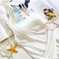 Vest sling Spring 2017 White, gray, black, pink M,L,XL,2XL singleton  Medium length Self cultivation Versatile camisole Solid color 96% and above modal  September sweetheart