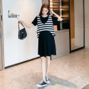 suit Other / other Gray, black M, L Korean version Short sleeve + skirt summer routine other Pure cotton (95% and above)