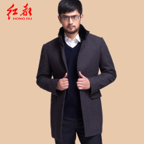 woolen coat Purple hym3351-06 165/84/S 170/88/M 175/92/L 180/96/XL 185/100/XXL 190/104/XXXL Hongdu Business gentleman HYM3351 Wool 90% Cashmere (cashmere) 10% Woolen cloth Winter of 2018 Medium length go to work easy Same model in shopping mall (sold online and offline) middle age Double collar wool