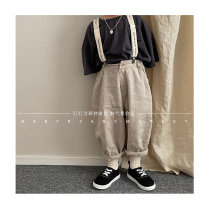 trousers Other / other neutral 3(80cm),5(90cm),7(100cm),9(110cm),11(120cm),13(130cm) Off white [I can wait for no return], khaki [I can wait for no return] spring and autumn trousers There are models in the real shooting Casual pants Leather belt middle-waisted Don't open the crotch lov