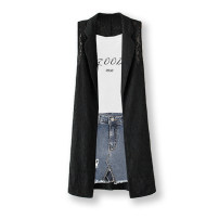 Vest Summer 2021 Black [in stock] 155/80A/S 160/84A/M 165/88A/L 170/92A/XL 175/96A/XXL 180/100A/XXXL have more cash than can be accounted for V-neck street Solid color No buckle JHQMR3393 Hanging neck style 30-34 years old QMR / qianmurong 51% (inclusive) - 70% (inclusive) polyester fiber Lace
