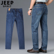 Jeans Fashion City Jeep / Jeep 30,31,32,33,34,35,36,38,40,42,44 routine Micro bomb Regular denim J967 trousers go to work autumn middle age Medium high waist Loose straight tube Business Casual Straight foot zipper washing cotton