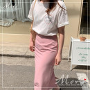 skirt Summer 2021 S,M,L,XL White T-shirt, peach pink skirt, yellow skirt Mid length dress Versatile skirt Solid color 18-24 years old 51% (inclusive) - 70% (inclusive) Other / other polyester fiber
