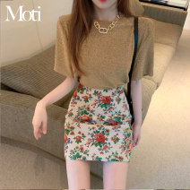 Fashion suit Summer 2021 S. M, average size Gold thread jacket, flower skirt 18-25 years old 2902#