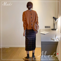 Fashion suit Winter of 2019 S. M, l, XL, one size fits all Plaid skirt, sweater 18-25 years old Other / other