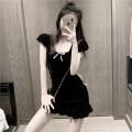 Dress Summer 2020 black S, M singleton  High waist 18-24 years old